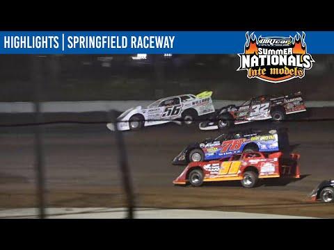 DIRTcar Summer Nationals Late Models Springfield Raceway July 22, 2021 | HIGHLIGHTS - dirt track racing video image
