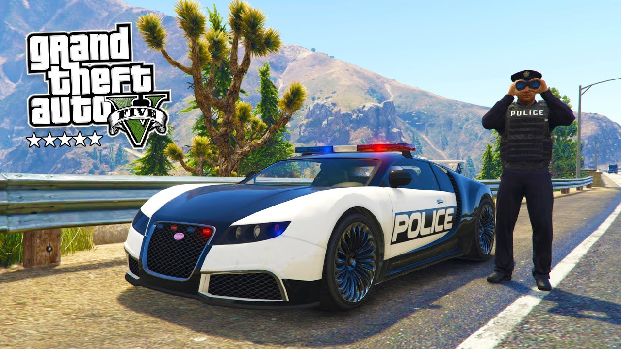 GTA 5 PC Mods - PLAY AS A COP MOD #6! GTA 5 Police BUGATTI LSPDFR