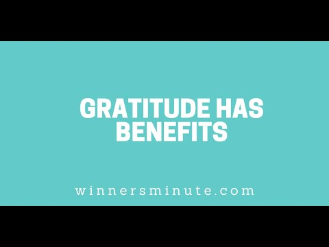 Gratitude Has Benefits // The Winner's Minute With Mac Hammond