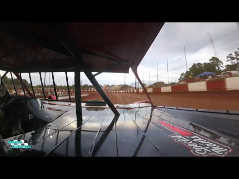 Ride along with Justin Begley as he Hot Lap Qualifies at the Historic Dixie Speedway on 06/26/2021 - dirt track racing video image