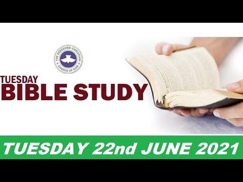 RCCG JUNE 22nd 2021 BIBLE STUDY