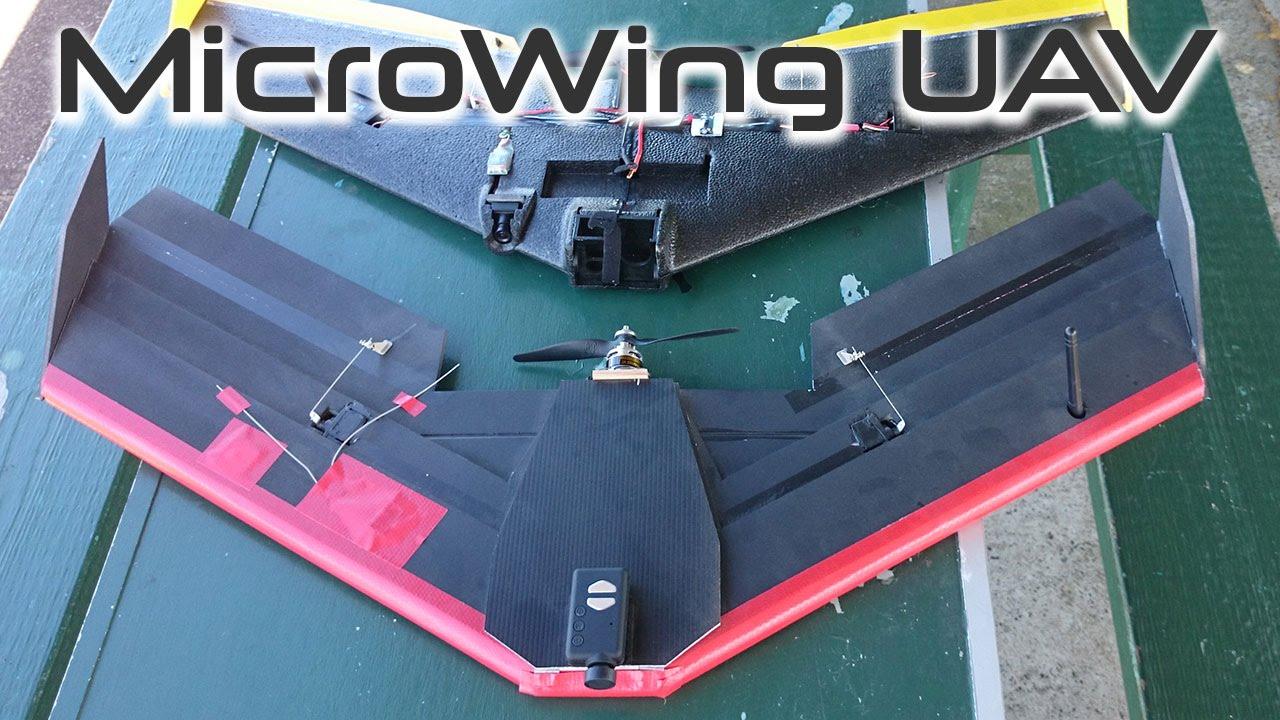 Microwing UAV - foam board drone - HKPilot APM 2 5