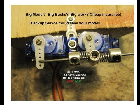 Double your servo power and have backups too.  Heres how I do it. - UCvPYY0HFGNha0BEY9up4xXw