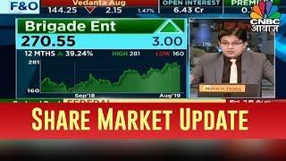 शेयर मार्केट की बड़ी खबरें, Nifty, Sensex और Brigade Ent के Q1 नतीजे