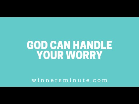 God Can Handle Your Worry // The Winner's Minute With Mac Hammond