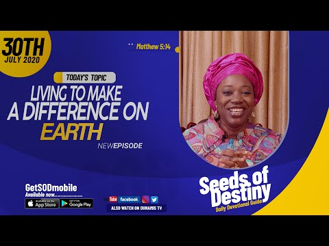Dr Becky Paul-Enenche - SEEDS OF DESTINY - THURSDAY JULY 30, 2020