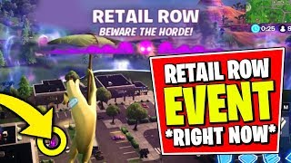 RETAIL ROW RIFT ZONE GAMEPLAY *RIGHT NOW* (Fortnite SEASON X EVENT JUST HAPPENED)