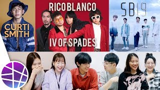Koreans React to OPM #9 (Rico Blanco x IV of Spades, Curtismith, SB19) | EL's Planet