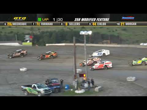Thunder Mountain Speedway   DIRTcar 358-Modified Highlights   7/10/21 - dirt track racing video image