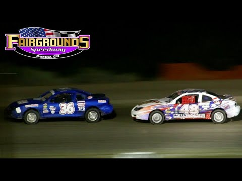Fairgrounds Speedway IMCA Sport Compact Main Event 8/14/21 - dirt track racing video image
