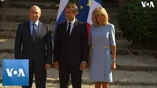 France's President Macron Met with Russia's President Putin in France
