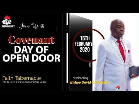DOMI STREAM: COVENANT DAY OF OPEN DOOR SERVICE  16th, FEB. 2020