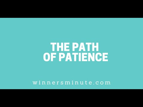 The Path of Patience // The Winner's Minute With Mac Hammond