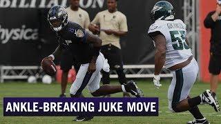 Insane Lamar Jackson Juke Move | Baltimore Ravens Practice Highlight