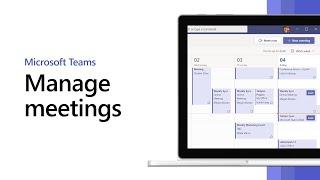 Manage meetings in Microsoft Teams