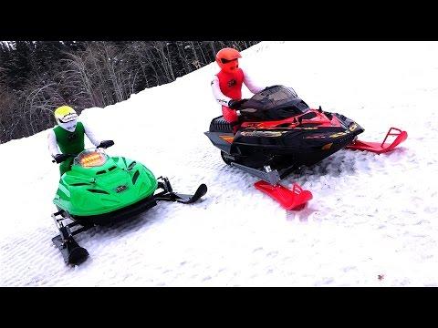 RC ADVENTURES - Dual Radio Control Snowmobiles - Arctic Cat & Ski-Doo MXZ - Brushless & Lipo Power - UCxcjVHL-2o3D6Q9esu05a1Q