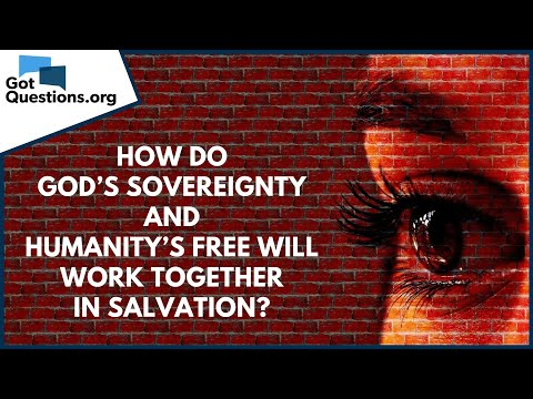 How do Gods sovereignty and humanitys free will work together in salvation?  GotQuestions.org