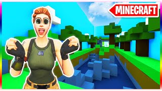 MINECRAFT... but its a Deathrun! (Fortnite Creative Mode)