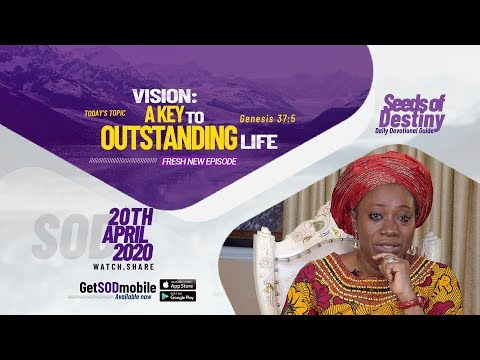 Dr Becky Paul-Enenche - SEEDS OF DESTINY - MONDAY, APRIL 20, 2020