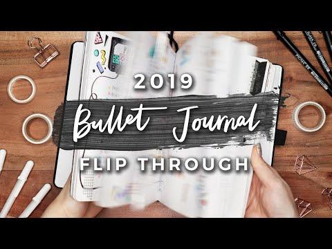 My 2019 Bullet Journal Flip Through | A YEAR IN MY JOURNAL