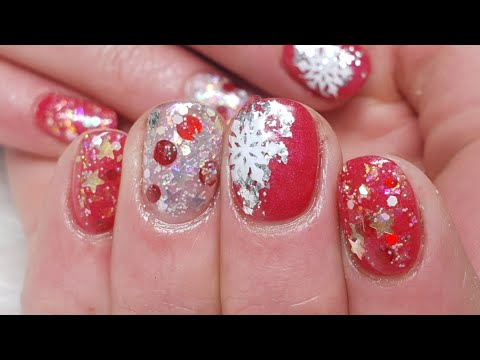 Teeny Tiny Christmas Acrylic Overlays - Hard Working Hand Can Be Pretty Too!