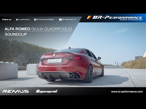 Alfa Romeo Giulia Quadrifoglio / SOUNDCLIP By BR-Performance / SUPERSPRINT + REMUS exhaust