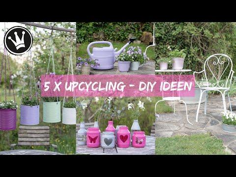 DIY – 5 UPCYCLING IDEEN mit Lackspray | Gartendeko | Möbel lackieren | DekoideenReich | GEWINNSPIEL