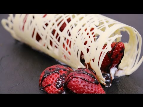 How To Make Chocolate Swirls Decorations For Desserts How To Cook
