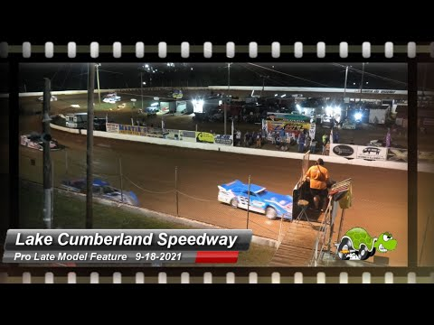 Lake Cumberland Speedway - Pro Late Model Feature - 9/18/2021 - dirt track racing video image