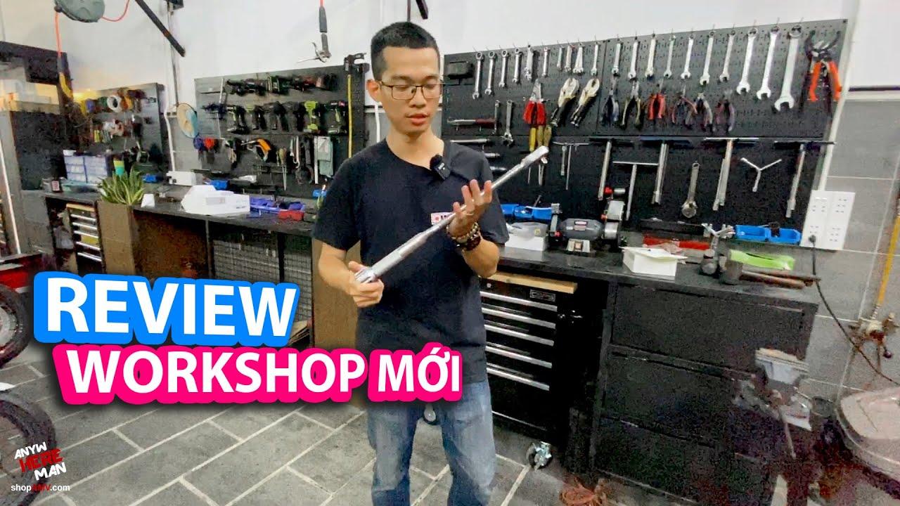 Review shop mới của AMV Motocare | Workshop tour