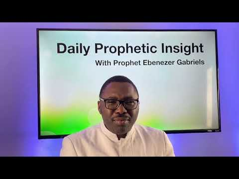 Prophetic Insight - February 12, 2021
