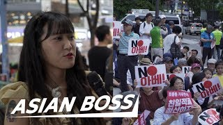 Why Koreans Are Boycotting Japan (Street Interview) | ASIAN BOSS