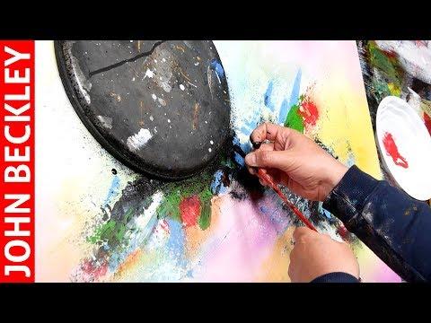 Peinture Acrylique Démonstration Art Abstrait | Ribes