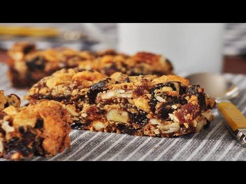 Fruit and Nut Bars Recipe Demonstration - Joyofbaking.com