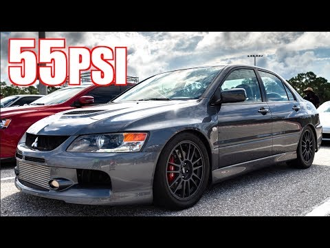 1100HP Sleeper Sequential Evo IX on 55PSI VS 40PSI Evo X and ZX10R!