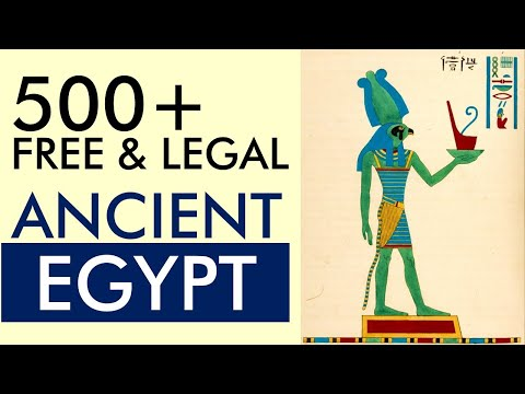 FREE and LEGAL Ancient Egyptian Images & Illustration – Free for Commercial Use (Print on Demand)