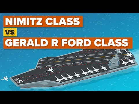 Nimitz Class vs Gerald R Ford Class - How Do The Aircraft Carriers Compare? - UCfdNM3NAhaBOXCafH7krzrA