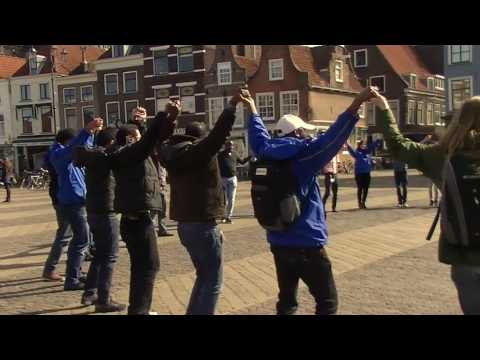Flash mob at Delft Market Square - Complete version