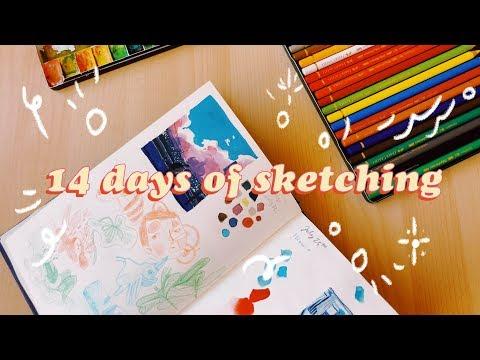 Sketchbook 4: 14 Day Sketchbook Challenge - 10 SPEEDPAINTS  -