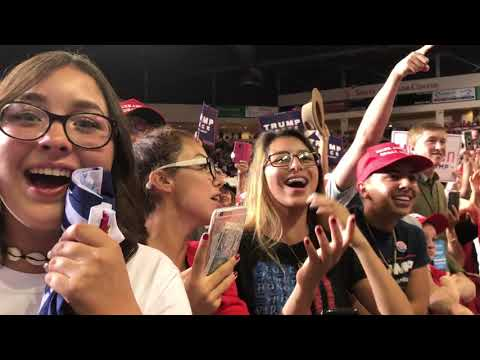 Supporters cheer Trump during New Mexico campaign rally