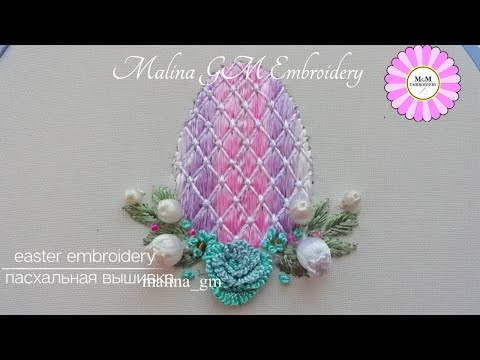 Easy idea   Easter egg   beadwork   beadwork   Hand Embroidery   #shorts