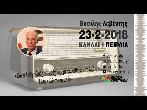 'Εκρηξη Βασίλη Λεβέντη (Novartis - Σκοπιανό) / Κανάλι 1 / 23-2-2018