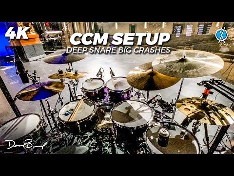 Playing a CCM Drum Setup! (Kinda) // Drum Vlog