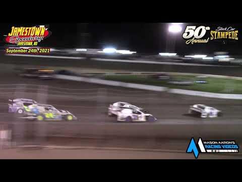 Jamestown Speedway IMCA Sport Mod A-Main (50th Jamestown Stock Car Stampede) (9/24/21) - dirt track racing video image