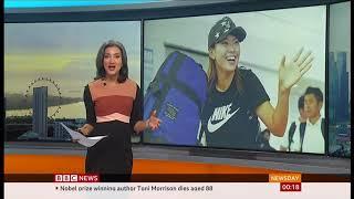 Hinako Shibuno 'smiling Cinderella' on world stage (Japan) - BBC News - 7th August 2019