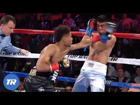 Shakur Stevenson Gets his 1st Pro Knockout Victory | FREE FIGHT ON THIS DAY. 5
