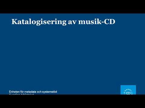 Katalogisering av musik-CD