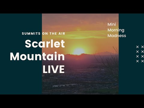SOTA Activation of Scarlet Mountain.