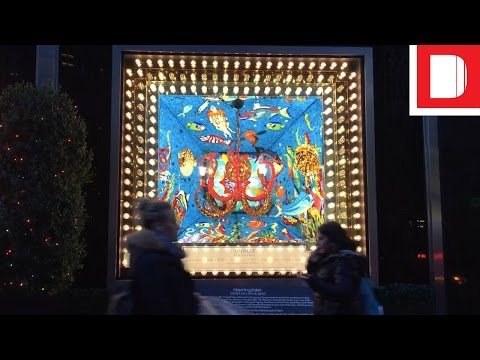 What Does New York Make Of Bloomingdale's 2016 Christmas Windows?