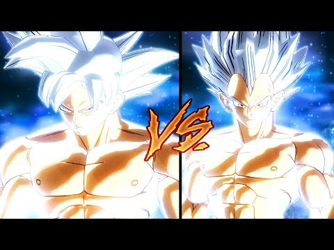 Mastered Ultra Instinct Goku Vs Mastered Ultra Instinct Vegeta | Dragon Ball Xenoverse 2 Mods